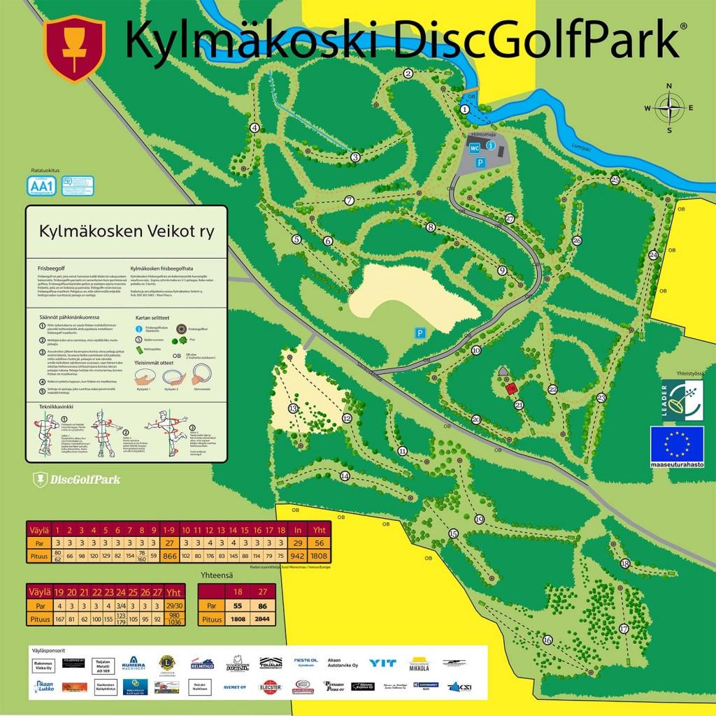 Kylmäkoski_DiscGolfPark_Opastaulu_2016_v2